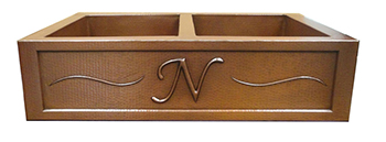 Custom Monogram Copper Sink
