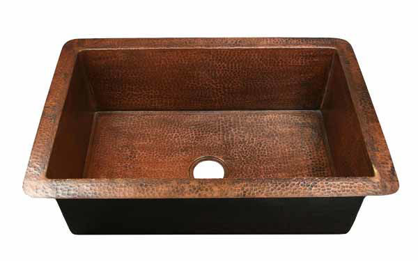 "Picture of 33"" Copper Kitchen Sink by SoLuna"