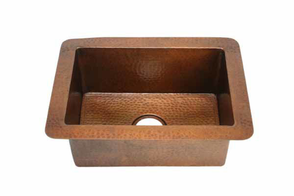 """Picture of 22"""" Copper Bar Sink by SoLuna"""