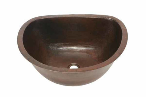 "20"" Copper Bar Sink - D-Shape by SoLuna"