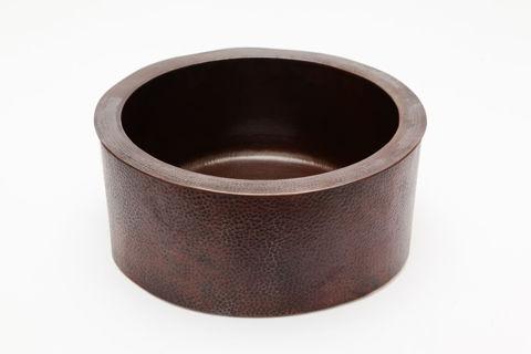 """19"""" Round Copper Bar Sink w/Apron by SoLuna"""
