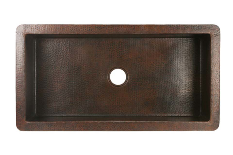 """Picture of 42"""" Copper Kitchen Sink by SoLuna"""