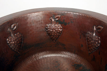 "Picture of 16"" Round Copper Bar Sink - Grapes by SoLuna"