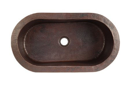"""Picture of 26.5"""" Oval Tub Copper Bar Sink by SoLuna"""