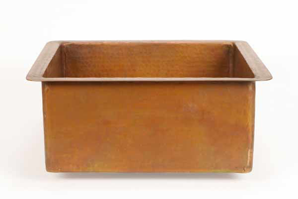 Picture of Square Copper Prep or Bar Sink