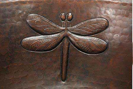 "Picture of 17"" Prescenio Copper Vessel Sink - Dragonfly by SoLuna"
