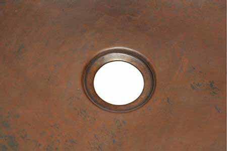 "16"" Hexagon Copper Bar Sink - Grapes by SoLuna"