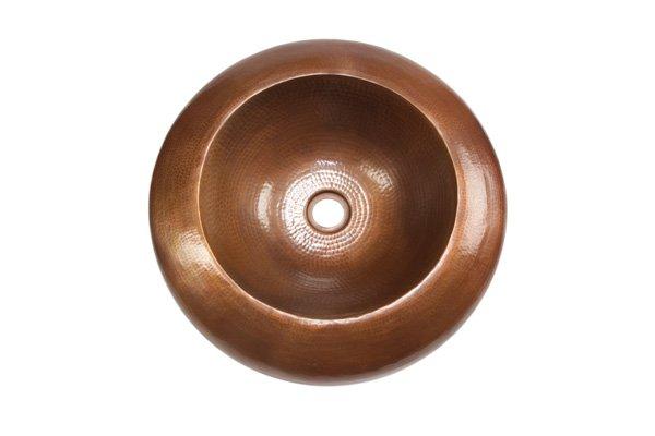 "Picture of 18"" Platillo Copper Vessel Sink by SoLuna"