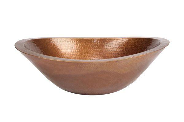 "19"" Oval Caliz Copper Vessel Sink by SoLuna"