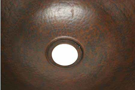 "Picture of 16"" Espeso Pirucho Copper Vessel Sink by SoLuna"
