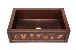 Copper Farmhouse Sink - Fruit Bandolier by SoLuna