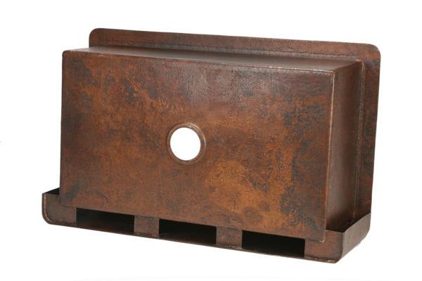 "33"" Single Well Copper Farmhouse Sink by SoLuna"