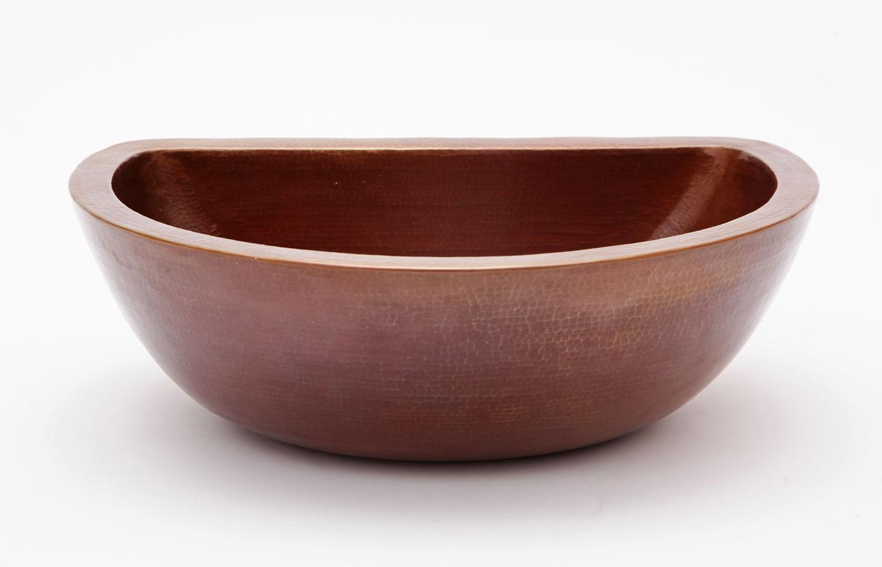 "Picture of 18"" D-Shape Copper Vessel Sink by SoLuna"