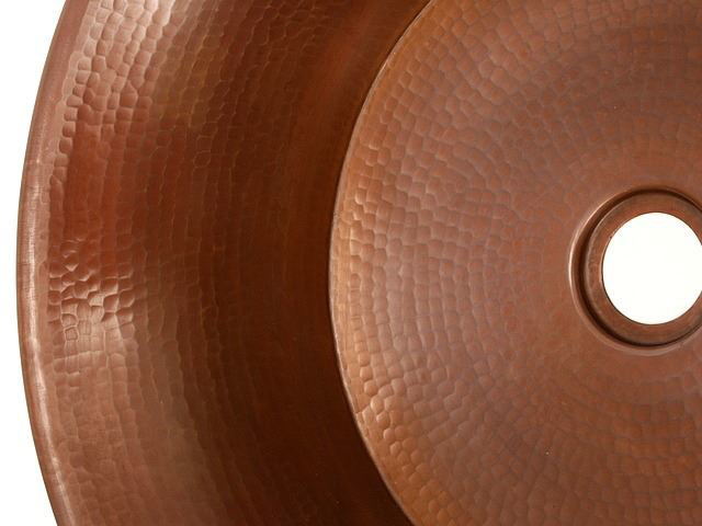 """Picture of 16"""" Copper Vessel Sink w/Handles by SoLuna"""