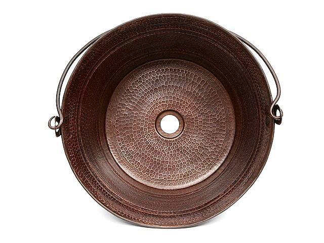 """16"""" Bucket Copper Vessel Sink by SoLuna"""