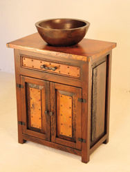 Picture of El Cerrito Wood and Copper Vanity