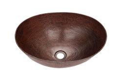 "Picture of 17"" Oval Espeso Copper Vessel Sink by SoLuna"