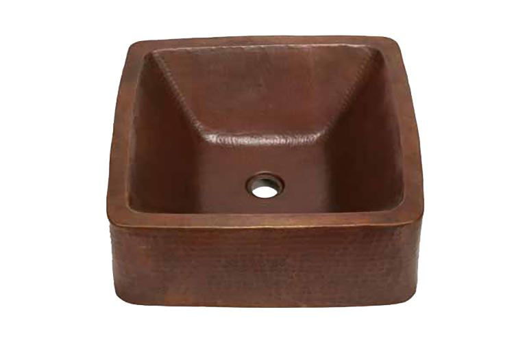 "Picture of 17"" Cubeta Copper Vessel Sink by SoLuna"