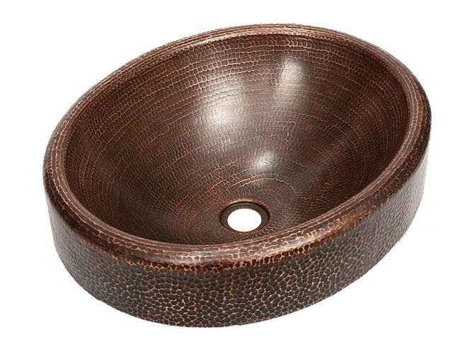 """Picture of 18"""" Oval Prescenio Copper Vessel Sink by SoLuna"""