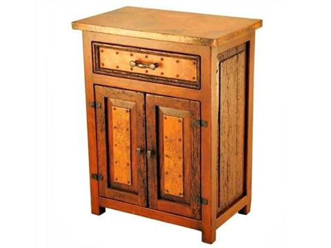 Deer Valley Nightstand with Copper Panels