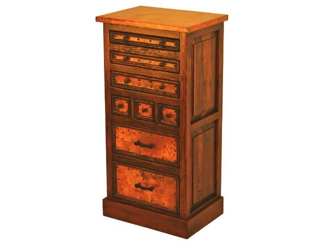 Picture of 8-Drawer Tall Dresser with Copper Panels