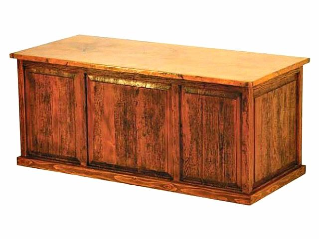 Picture of 5-Drawer Executive Desk with Copper Panels