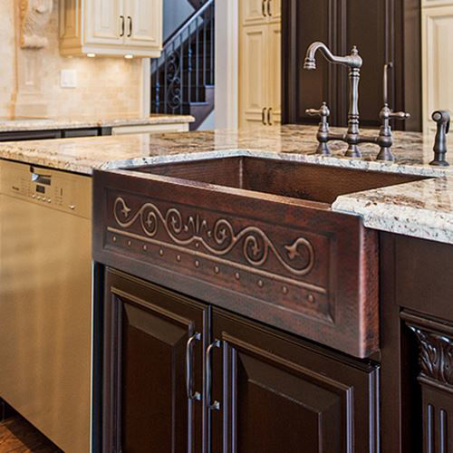 Picture of Copper Farmhouse Sink - Santa Clara by SoLuna