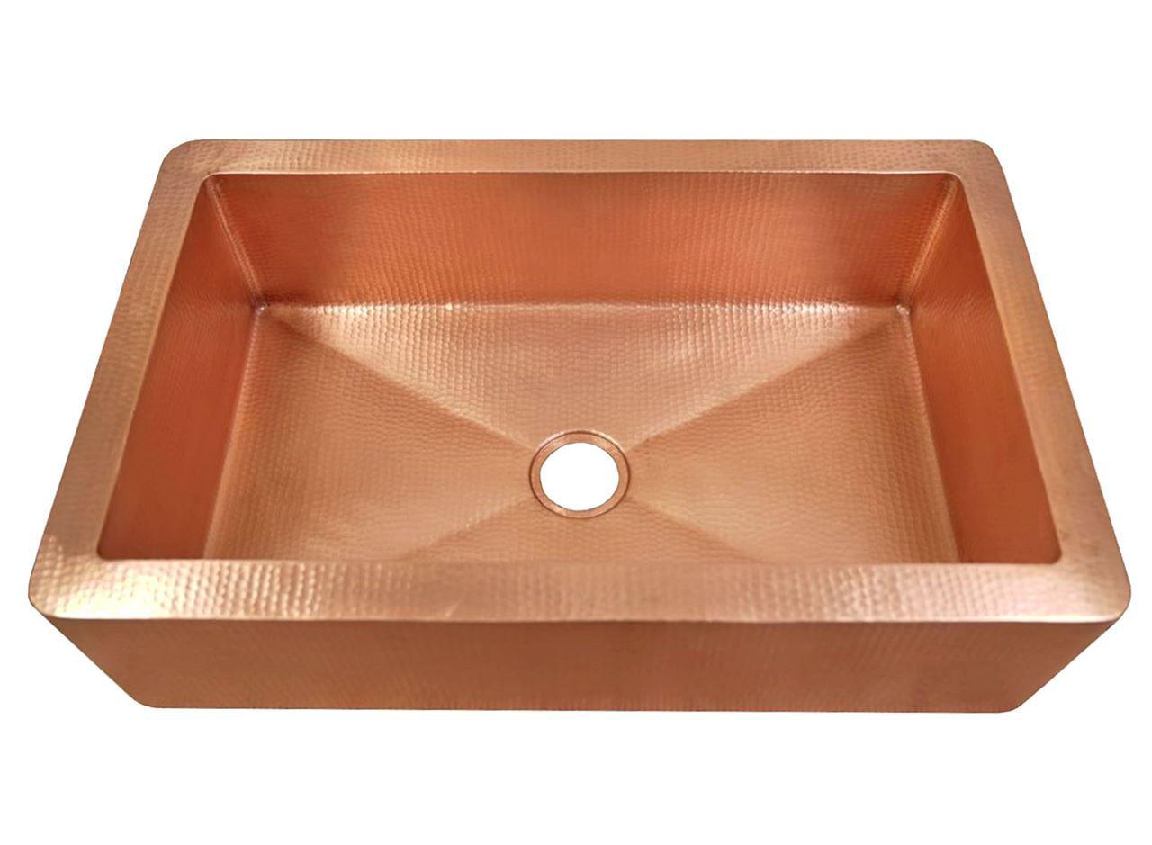 "Picture of 33"" Fernanda Copper Farmhouse Sink by SoLuna"