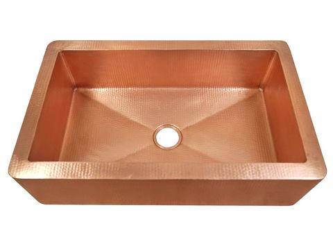 "33"" Fernanda Copper Farmhouse Sink by SoLuna"