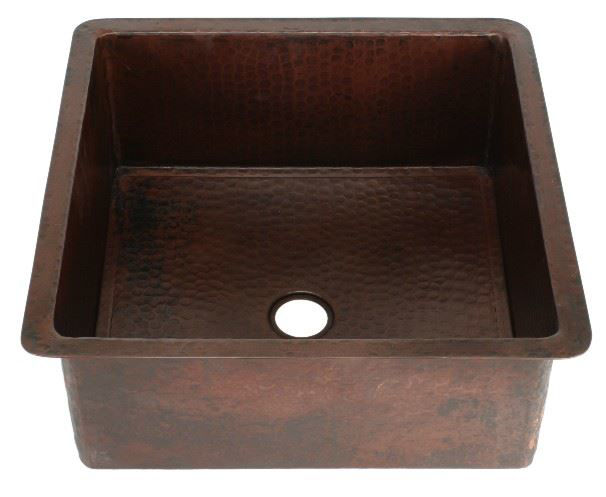"Picture of 15"" Square Copper Bar Sink by SoLuna"