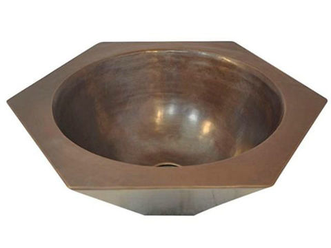 Hexagonal Copper Vessel Sink by SoLuna