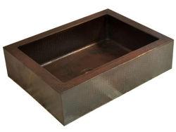 Rectangular Copper Vessel Sink by SoLuna