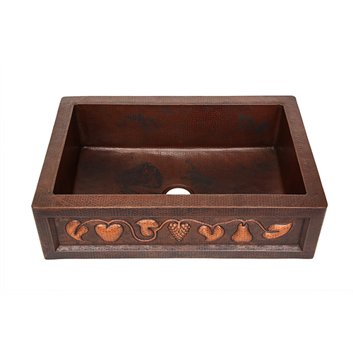 Picture of Copper Farmhouse Sink - Fruit Bandolier by SoLuna