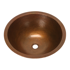 """Picture of 17"""" Round Copper Bathroom Sink by SoLuna"""