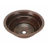 "Picture of 17"" Round Copper Bathroom Sink - Rings by SoLuna"