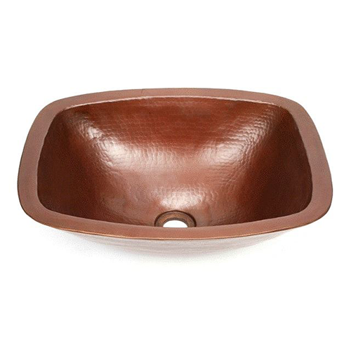 "Picture of 17"" Rectangular Ovoid Copper Vessel Sink by SoLuna"