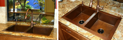 Beth H's Double Well Copper Kitchen Sink