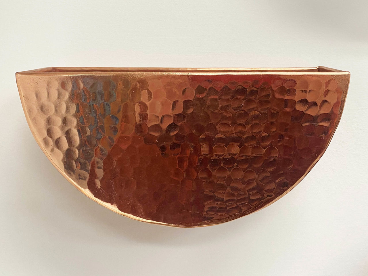 Picture of Half Round Hanging Copper Wall Planters by SoLuna