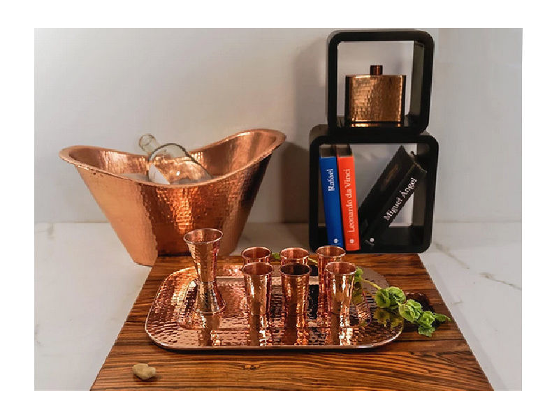Picture of Polished Copper Beverage Cooler By SoLuna