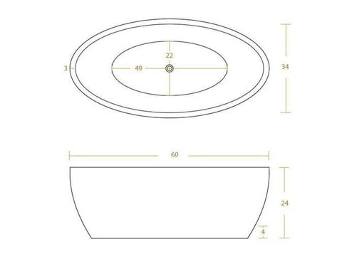 Double-Wall Oval Copper Bathtub in Polished Copper by SoLuna - SALE